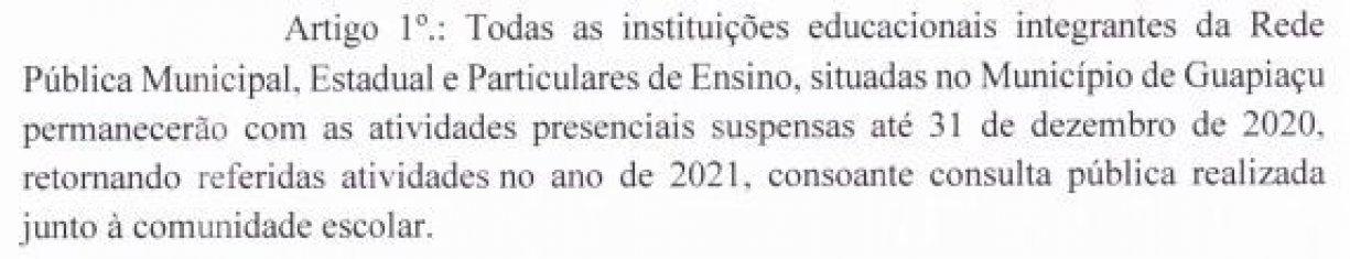 DECRETO 2.269 - SUSPENSAO DE AULAS PRESENCIAIS