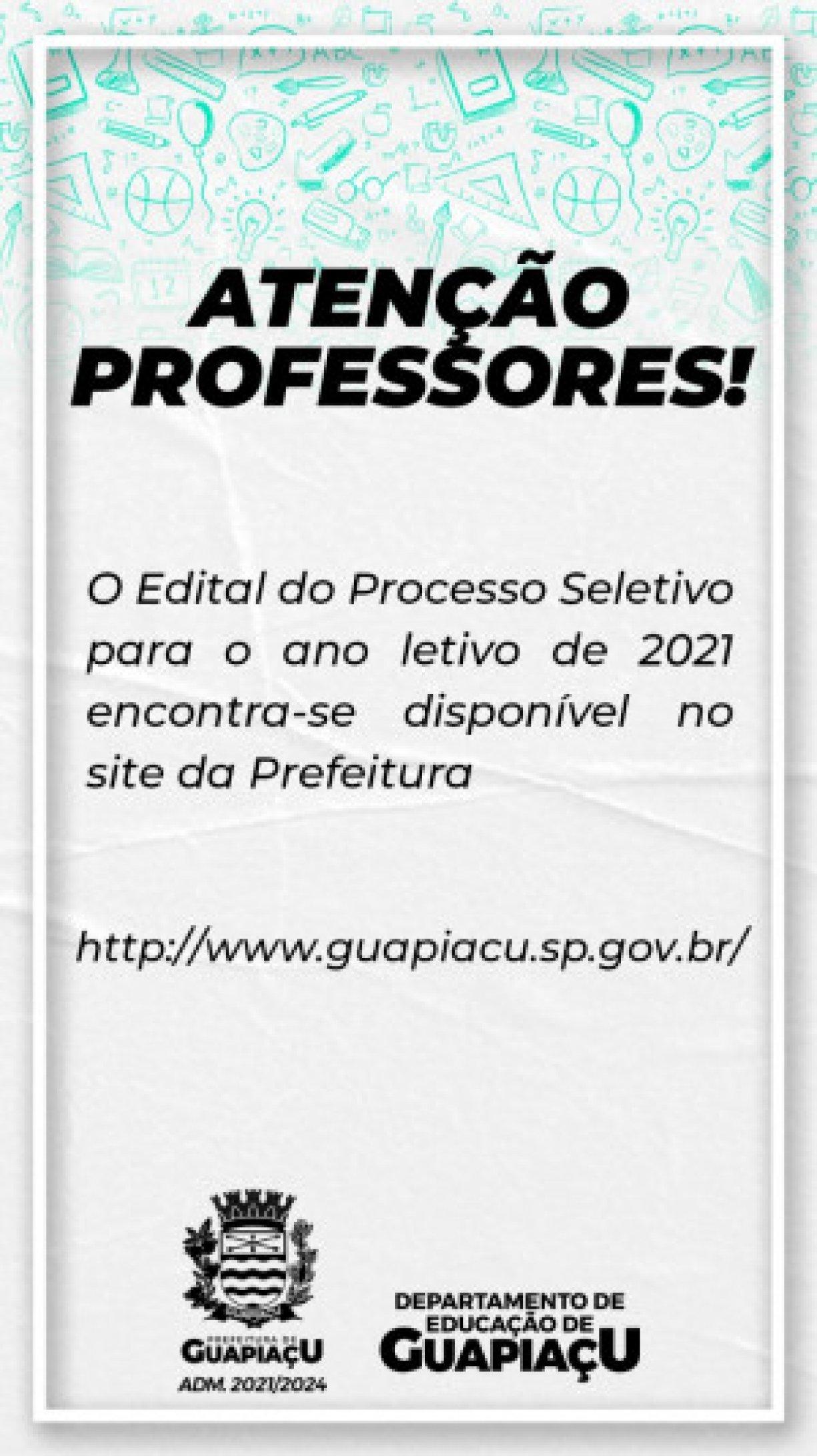 ABERTURA DO PROCESSO SELETIVO